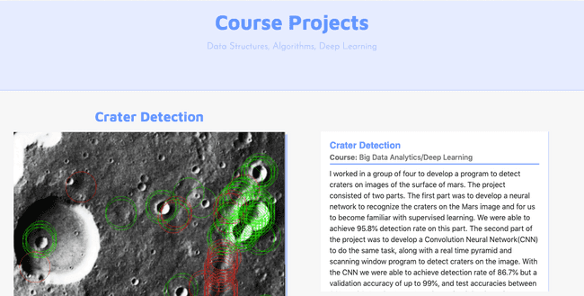 Previous version of the course work page